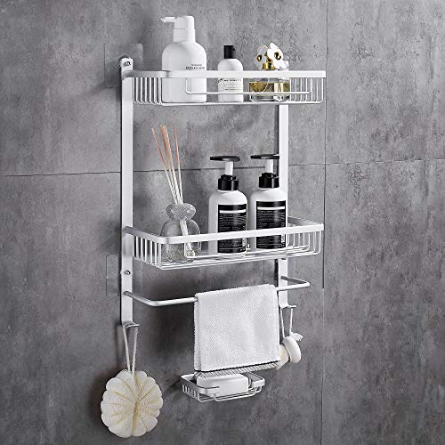 Gricol Estantería de ducha sin taladrar, de aluminio,...