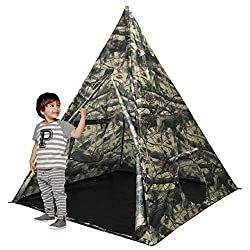 Camo tent gifts kids love nature