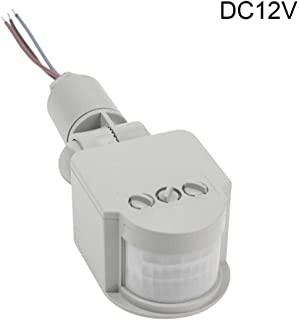 10-50W 12V Outdoor Security PIR Human Body Motion Sensor Detector Inductor Switch for Led Floodlight -Gray White