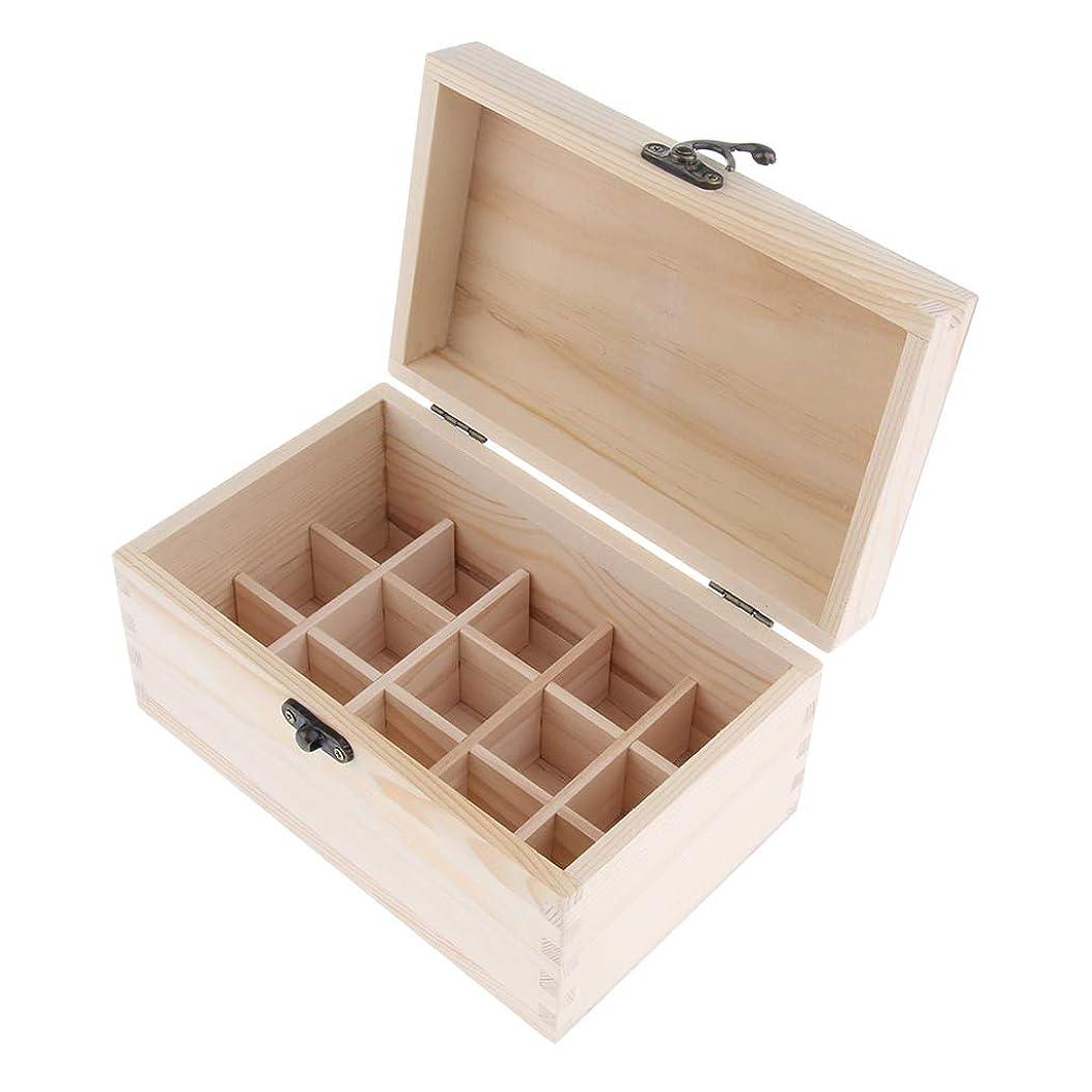 繰り返しと組む放出chiwanji 精油ケース 化粧品収納ボックス 15仕切り 木製 エッセンシャルオイル コンパクト 携帯便利 実用性