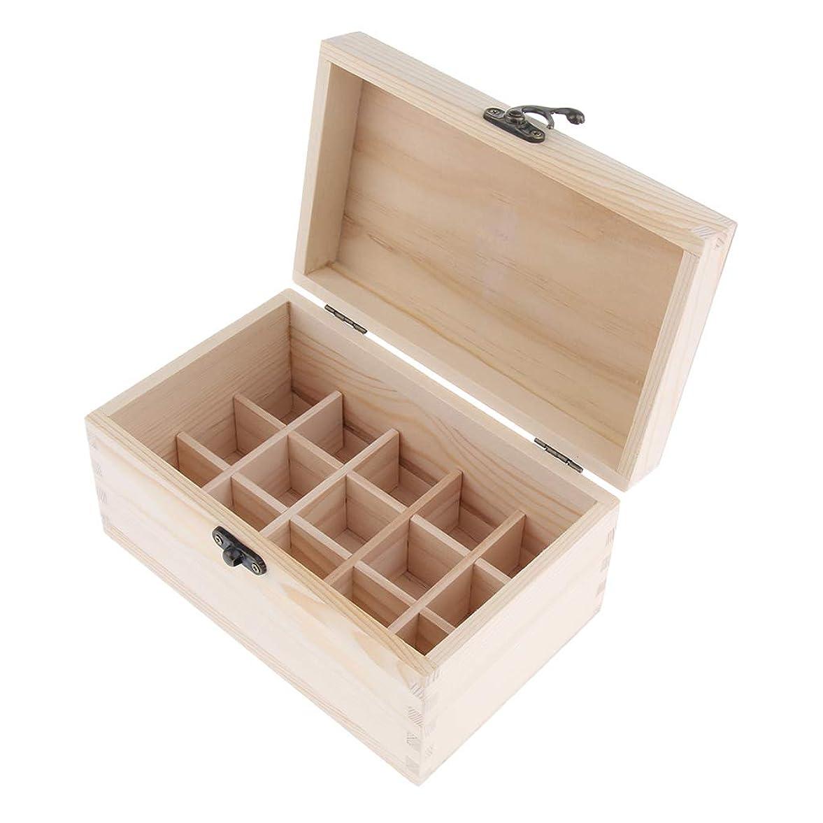 不足大工キノコsharprepublic エッセンシャルオイルケース 収納ボックス ディスプレイホルダー キャリーケース 15仕切り 木製