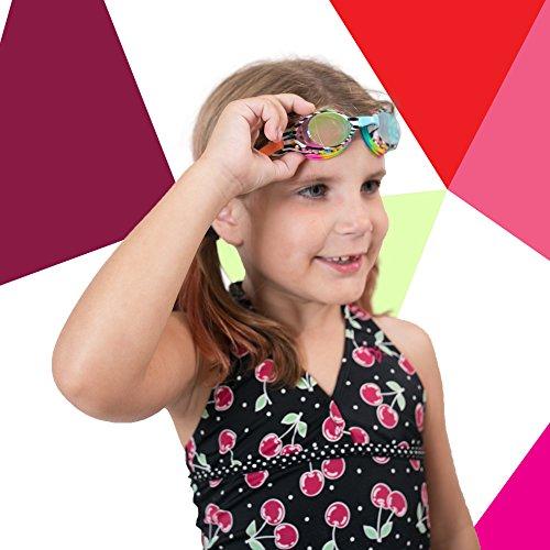 Bling 2O Kids Swim Goggles - Zebra Rhinestones - 8+ - Anti Fog, UV Protection