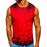JiaMeng_ZI Ropa Deportiva Poliéster Camiseta de Tirantes Regular fit Verano Casual Delgado Manga Corta T-Shirt Vest Transpirable Cómodo Sport Tank Top Lightweight Ropa de Moda