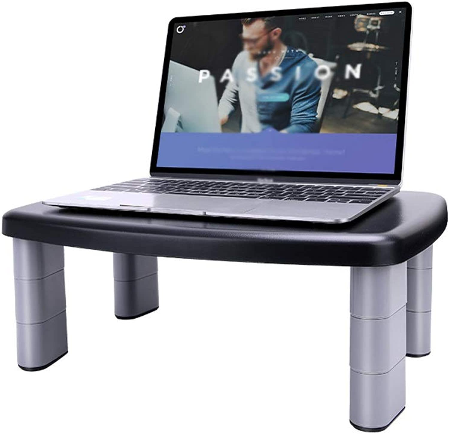 Adjustable Laptop Stand, Laptop, Rack-Mounted Desktop, 15.5-inch Computer Lift Stand