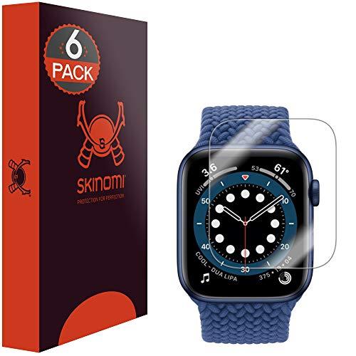 Skinomi TechSkin, pellicola protettiva compatibile con Apple Watch SE 44mm, confezione da 6