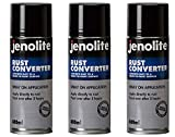 3 x JENOLITE Convertisseur de Rouille Spray - Stop-Rouille - Traitement Antirouille - 400ml