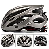 Casque de vélo SFBBAO Casque Velo Adulte Casques De Vélo avec Light Mountain Bike Road MTB Integrally-Molded XL Titanium9