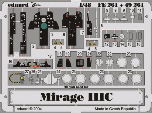Eduard Accessories fe261 Modélisme Accessoires Mirage IIIc/cj