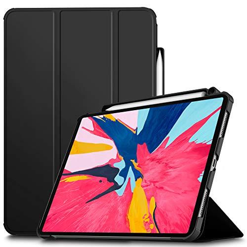 IVSO Custodia Cover per iPad PRO 11', Slim Smart Protettiva Custodia Cover in Pelle PU con Auto Wake/Sleep Function per Apple iPad PRO 11 2018, Black