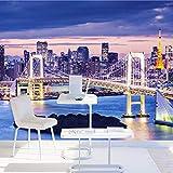 Wandbild Tapete Schlafzimmer Gemälde Tokio Stadt Nacht Szene Tv Hintergrund Home Decor Wallpaper Wandbild,250cmx175cm