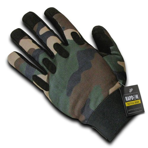 RAPDOM Tactical Camo Gloves, Woodland, X-Large