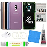 Galaxy S9+ Back Glass Cover Replacement Housing Door with Pre-Installed Camera Lens +Installation Manual +All The Adhesive +Repair Tools for Samsung Galaxy S9 Plus SM-G965 All Carriers(Lilac Purple)