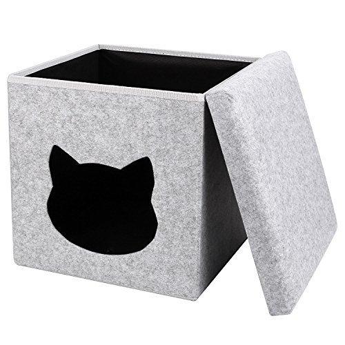 PEDY Cueva para Gatos Nido Plegable para Gatos Cama Foldable de Gatos...