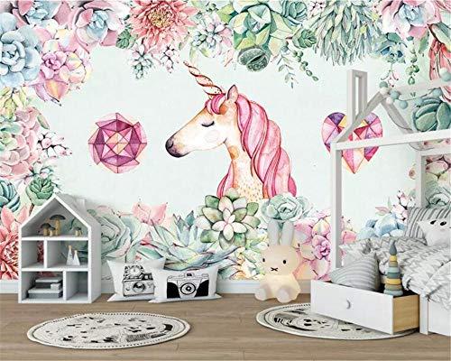 HDDNZH muurschildering op maat, 3D grote muurschildering behang, met de hand - bloemig, dier, moderne tv, sofa, achtergrond, de muur kinderkamer, slaapkamer, huis beschildering 60cm(H)×120cm(W)