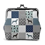 Coin Purse Wallet PU Leather Bag Doberman Pinscher Pet Quilt B Cheater Quilt Dog Breed Nursery Collection Womens Wallet Clutch Bag Ladies Retro Vintage Print Small Hasp