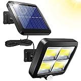 Phiraggit Luz solar al aire libre, luz de pared de inducción 56LED, luz solar dividida impermeable 100COB, luz de jardín de inducción de cuerpo separado, luz de garaje