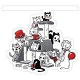 Vijk kor Horror Icon Kitties Pegatinas (3 Piezas/Paquete)