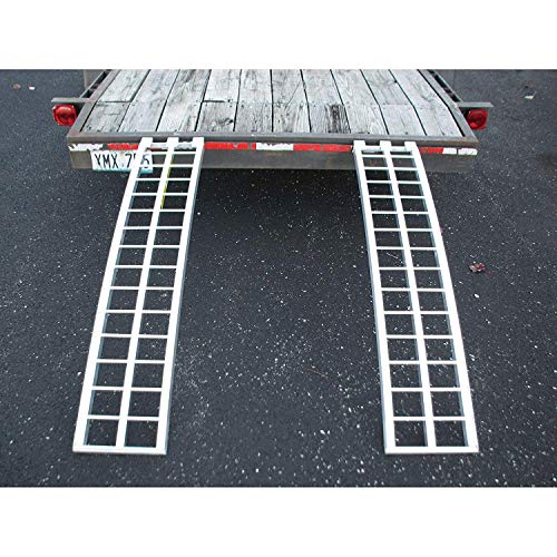 Five Star Aluminum Ramp (2) Set for Trailers - 60in.L x 12in.W, 2,500 lb. Capacity Per Pair