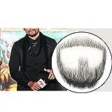 Remeehi Fausse moustache, fausse barbe pour homme avec dentelle, faite à la main,...
