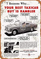 ランブラータクシーキャブウォールメタルポスターレトロプラーク警告ブリキサインヴィンテージ鉄絵画装飾バーガレージカフェのための面白いハンギングクラフト