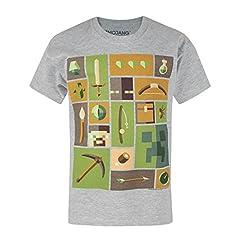 Minecraft Camiseta de Manga Corta Oficial Modelo Explorer para Niño