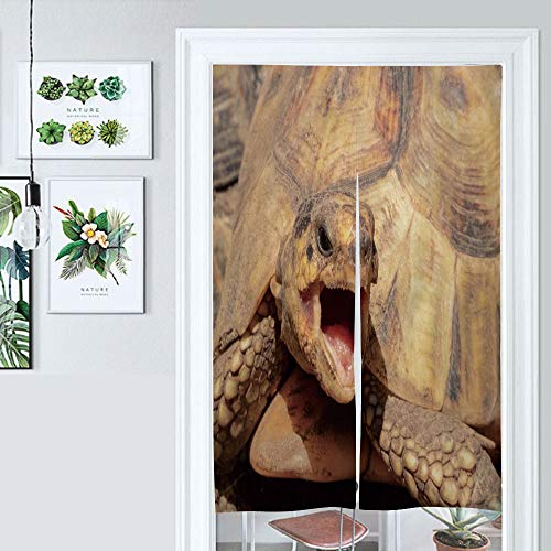 SUPNON Japanese Noren Doorway Curtain Yawning Tortoise Door Way Curtain Fitting Room Curtain Partition Curtain Door Hanging Tapestry IS145084 W33.5 x L59