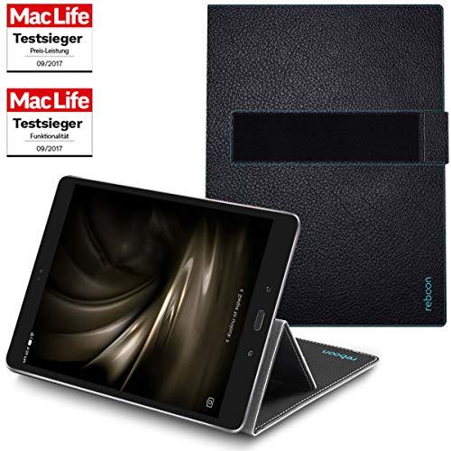 reboon Hülle für Asus ZenPad 3S 10 Tasche Cover Case Bumper | in Schwarz Leder | Testsieger