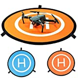 WHY Drone Landing Pad, Hélicoptère Parking Tablier Piste Décollage Atterrissage Hélisurface Pad Facile à Plier pour DJI Mavic Pro / Mavic Air / Spark / Phantom 3/4 Inspire 1 Quadcopter(75cm )