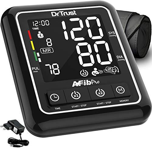 Dr Trust Atrial Fibrillation Automatic Dual Talking Digital BP Monitor Machine (Black)