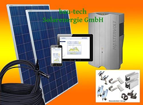 2000Watt Solaranlage Photovoltaikanlage Eigenverbrauch Plug & Play für Steckdose mit Montagematerial für Pfannendach