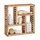 Relaxdays Estantería de Pared, Cinco Compartimentos, Mueble de baño, 50 x 50 x...