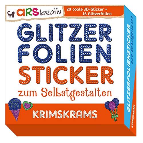 Glitzerfolien-Sticker zum Selbstgestalten - Krimskrams