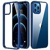 TORRAS Diamond Series Hülle für iPhone 12 & 12 Pro Vergilbungsfrei Transparent Starke Stoßfestigkeit Unzerstörbare Schutzhülle Dünn Kratzfest - Pazifikblau