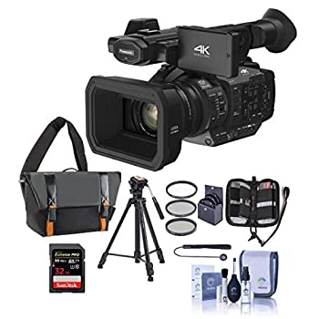 Panasonic HC-X1 4K Ultra HD Professional Camcorder with Leica Dicomar Lens 20x Optical Zoom - Bundle with Video Case 32GB SDHC U3 Card Tripod Cleaning Kit 67mm Filter Kit Memory Wallet Capleash