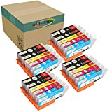 Win-tinten 20 Pack Canon Inks Replacement for PGI 220 CLI 221 Ink Cartridge for PGI-220 Ink for Canon PIXMA IP3600 IP4600 MP540 MP620 MP630 MP980 MX860 IP4700 Printers