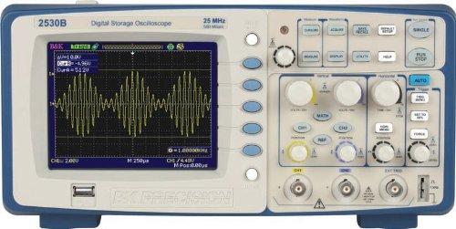 B&K Precision 2530B Digital Storage Oscilloscope, 25 MHz Bandwidth, 500 MSa/s Sampling Rate