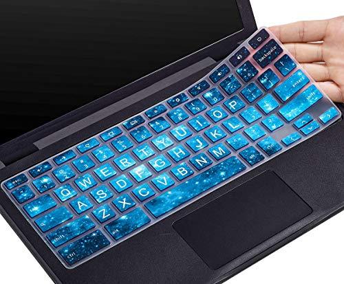 CaseBuy Keyboard Cover for Dell 11.6 Chromebook/Dell Chromebook 11 3100 3120 3180 3181 3189 5190 P22T 11.6\' / Dell Chromebook 13 3380 13.3 inch, Dell Chromebook Cover(Upper CASE, Blue Stars)