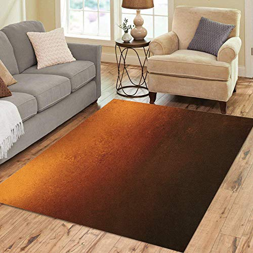 Pinbeam Area Rug Orange Copper Colored Warm Brown Earth Tones Home Decor Floor Rug 2' x 3' Carpet