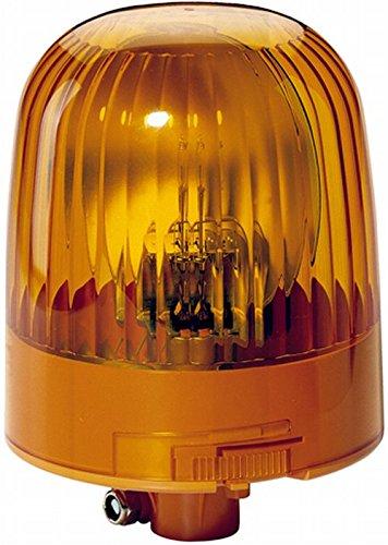 HELLA 2RL 007 551-021 Rundumkennleuchte - KL Junior - Halogen - H1 - 12V/24V - Lichtscheibenfarbe: gelb - Rohrstutzen