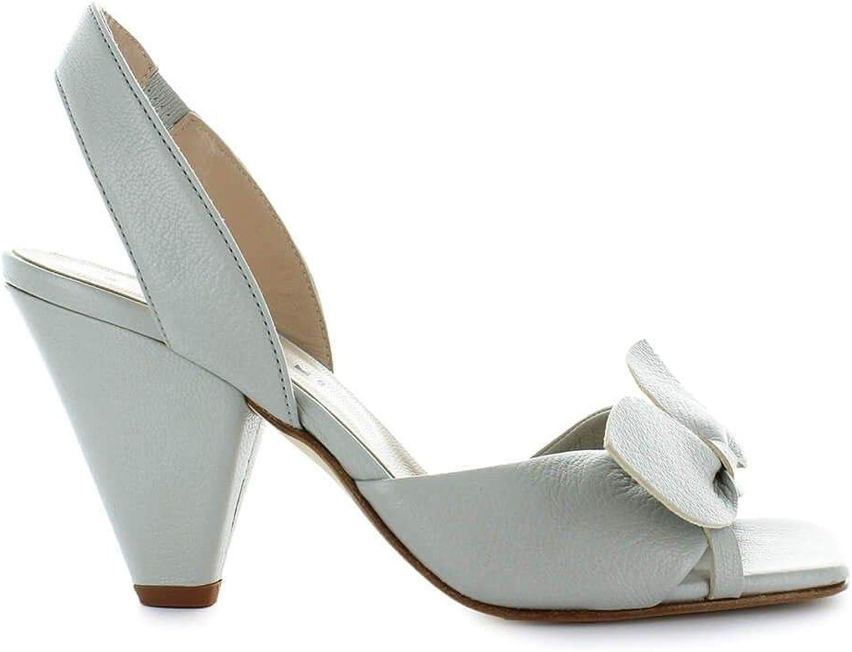 ETTORE LAMI Women's EL23000 Grey Leather Sandals