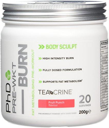 PhD Nutrition Pre-Workout Burn Supplement, Fruit Punch