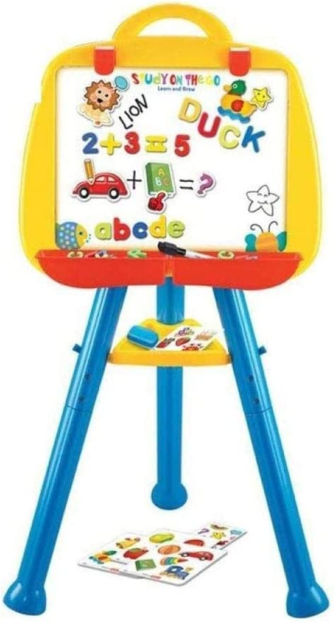 YQSHYP NEW security before selling ☆ Kids Easel Double Sided Height Whiteboard Chalkboard Adju