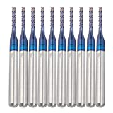 10 Stück Hartmetallfräser Schaftfräser Satz Blue Corn Cutter CNC PCB Gravur Fräswerkzeug(1.4mm)