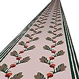 WCS Pasillo Alfombra Pasillo Alfombra de Fibra química, no Tejido, 2 Colores, el tamaño se Puede Personalizar para pasillos, pasillos, pasajes, pasillos, cocinas, caravanas