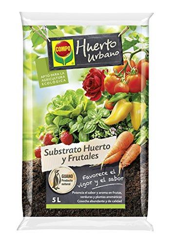 Compo universal para frutas, verduras, plantas aromáticas y de interior, Apto para agricultura ecológica, Substrato de cultivo, 5 L, 2468804011