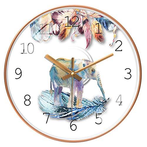 ZZLHHD RelojdeParedModernoRelojnórdicosilenciosodepared208gParedEstiloModernoRelojRonda