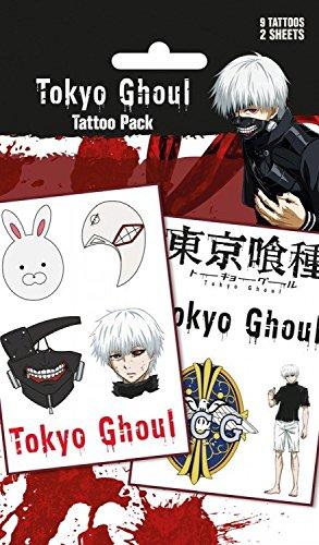 Tokyo Ghoul – Mix, 9 Tattoos Juego Tatuajes (17 x 10 cm): Amazon.es: Hogar