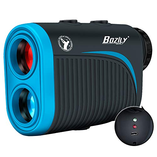 Bozily Golf Rangefinder, 6X Rechargeable Laser Range Finder 1200 Yards...