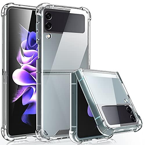 LK Coque Compatible avec Galaxy Z Flip 3, Transparente Boîtier Antichoc Housse de Protection Ultra Fine Coque, Compatible avec Samsung Galaxy Z Flip 3 5G 2021 - Transparente