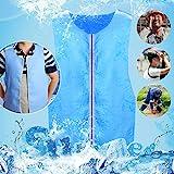 Cooling Vest for Men Women PVA Adjustable Cold Vest Fabric Sport Cool Vest Body Ice Vest for High Temperature Operator Sunstroke Protective